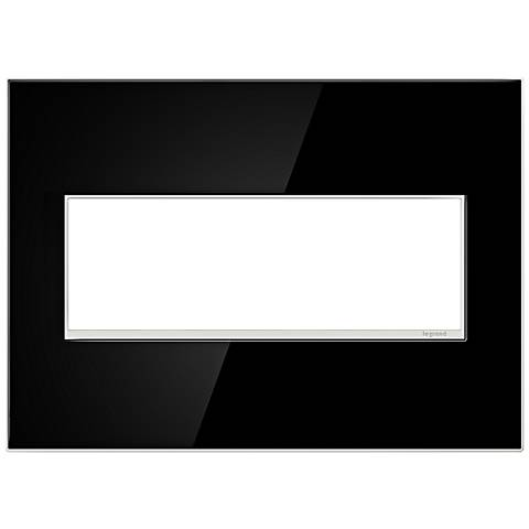 adorne® 3-Gang Mirror Black Wall Plate