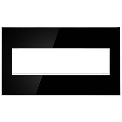 adorne® 4-Gang Mirror Black Wall Plate