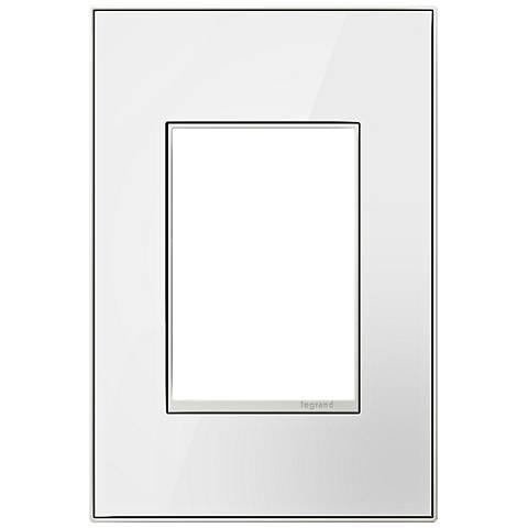 adorne® 1-Gang 3-Module Mirror White Black Back Wall Plate