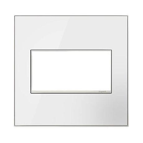 adorne® 2-Gang Mirror White Wall Plate