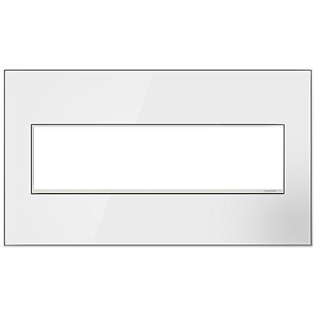 adorne® 4-Gang Mirror White Wall Plate