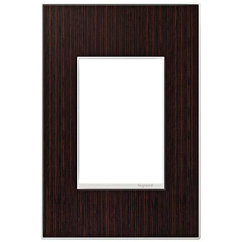 adorne® 1-Gang 3-Module Wenge Wood Wall Plate