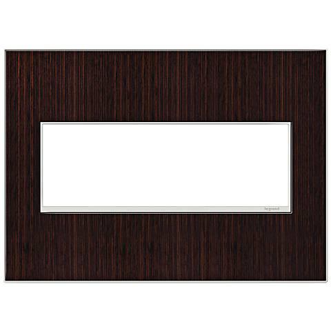 adorne® 3-Gang Wenge Wood Wall Plate