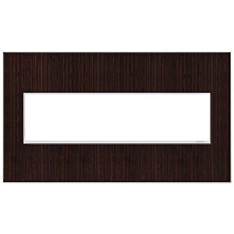 adorne® 4-Gang Wenge Wood Wall Plate