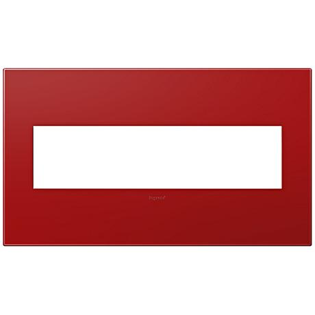 adorne® Cherry 4-Gang Snap-On Wall Plate