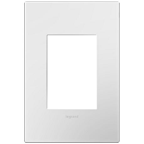 adorne® Gloss White 1-Gang 3-Module Snap-On Wall Plate