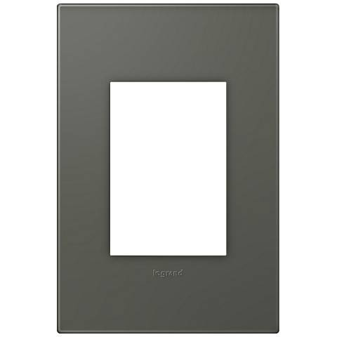 adorne® Soft Touch Moss Gray1-Gang 3-Module Wall Plate