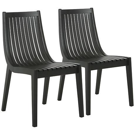 Impacterra Oslo Wenge Wood Side Chair Set of 2
