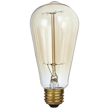 Nostalgic Amber 60 Watt Edison Style Light Bulb