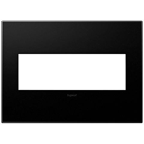 adorne® Graphite 3-Gang Snap-On Wall Plate