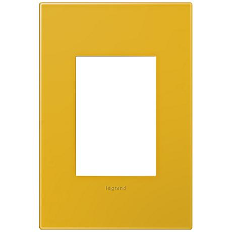 adorne® Honey 1-Gang 3-Module Snap-On Wall Plate