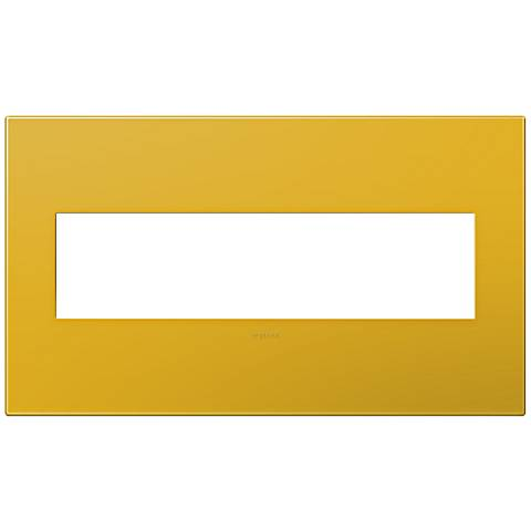 adorne® Honey 4-Gang Snap-On Wall Plate