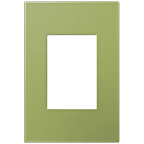 adorne® Lichen Green 1-Gang 3-Module Snap-On Wall Plate
