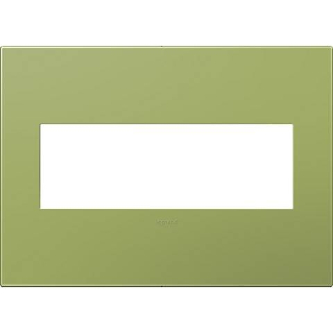 adorne® Lichen Green 3-Gang Snap-On Wall Plate