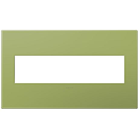 adorne® Lichen Green 4-Gang Snap-On Wall Plate