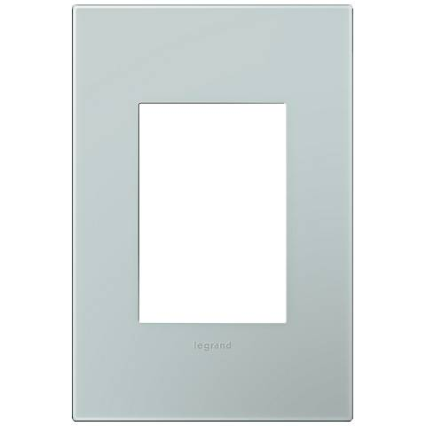 adorne® Pale Blue 1-Gang 3-Module Snap-On Wall Plate