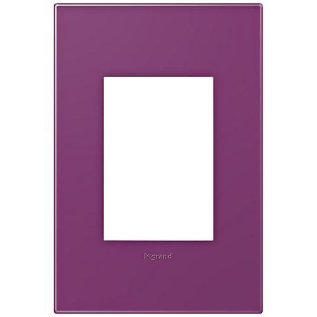 adorne® Plum 1-Gang 3-Module Snap-On Wall Plate