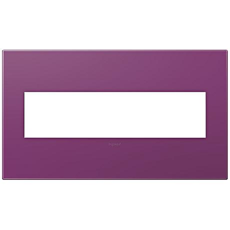 adorne® Plum 4-Gang Snap-On Wall Plate