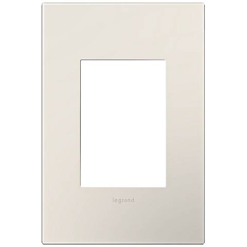 Adorne Satin Almond 1-Gang 3-Module Snap-On Wall Plate