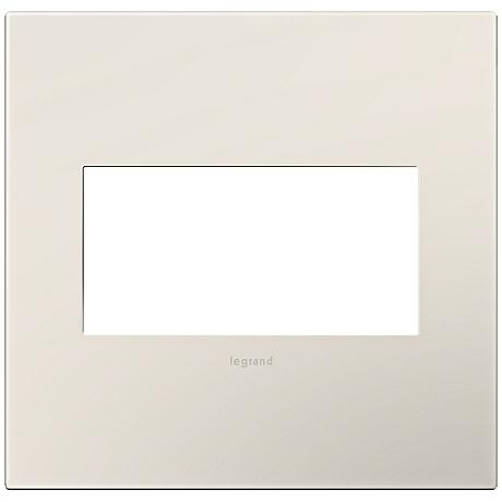 adorne® Satin Almond 2-Gang Snap-On Wall Plate