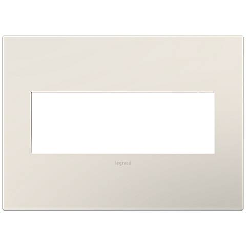 adorne® Satin Almond 3-Gang Snap-On Wall Plate