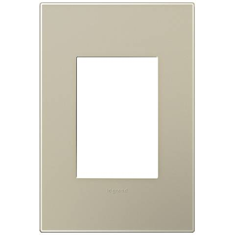adorne® Snap-On Titanium 1-Gang 3-Module Wall Plate