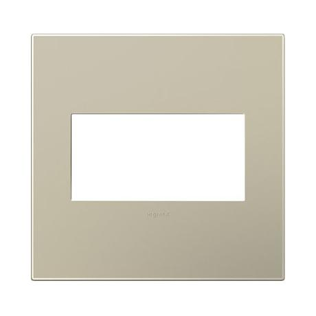 adorne® Snap-On Titanium 2-Gang Wall Plate