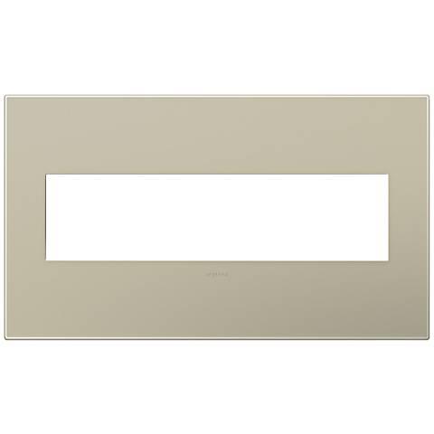 adorne® Snap-On Titanium 4-Gang Wall Plate