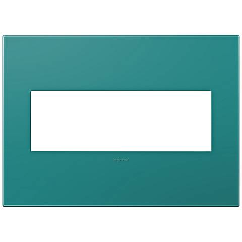 adorne® Snap-On Turquoise Blue 3-Gang Wall Plate