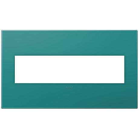 adorne® Snap-On Turquoise Blue 4-Gang Wall Plate