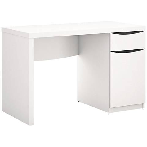 Montrese Modern White Computer Desk