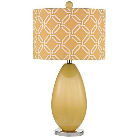 Dimond Sevenoakes Yellow Glass Table Lamp