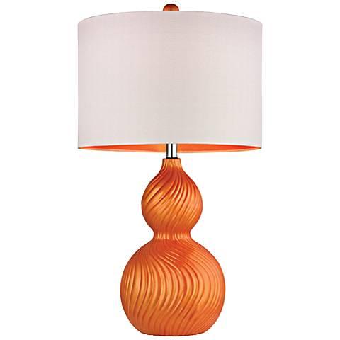 Dimond Carluke Tangerine Orange Ceramic Table Lamp
