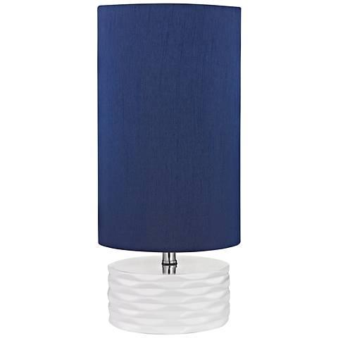 "Dimond 18""H Tamworth White Ceramic Accent Table Lamp"