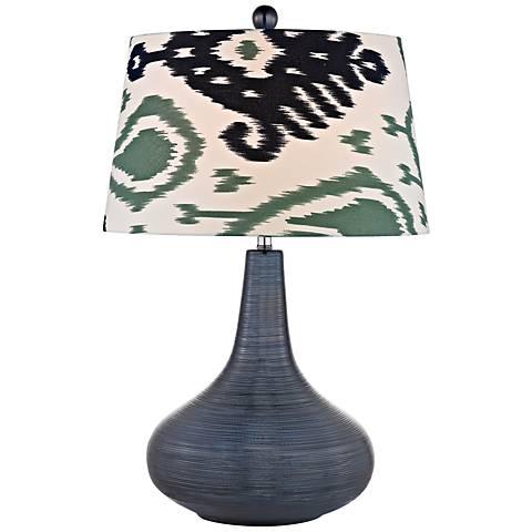 dimond penarth navy blue ceramic table lamp 7r816 lamps plus. Black Bedroom Furniture Sets. Home Design Ideas