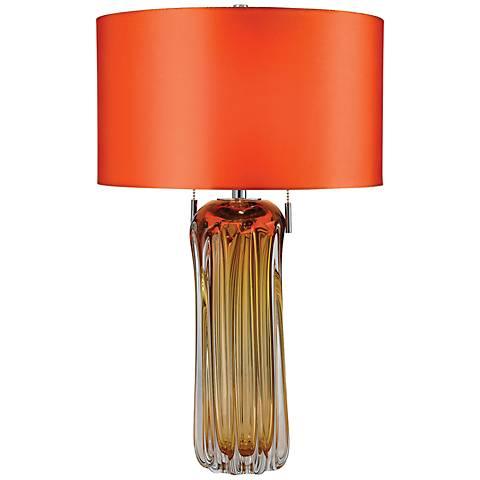 Dimond Ferrara Amber Blown Glass Table Lamp