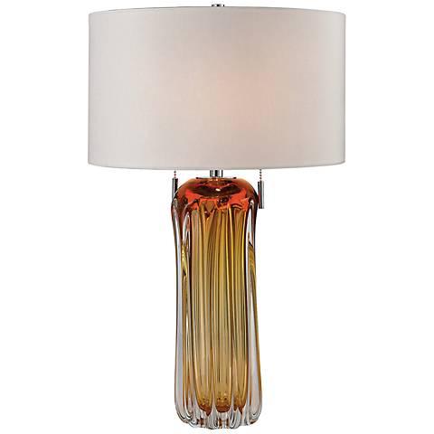 Dimond Ferrara Amber Free Blown Glass Table Lamp