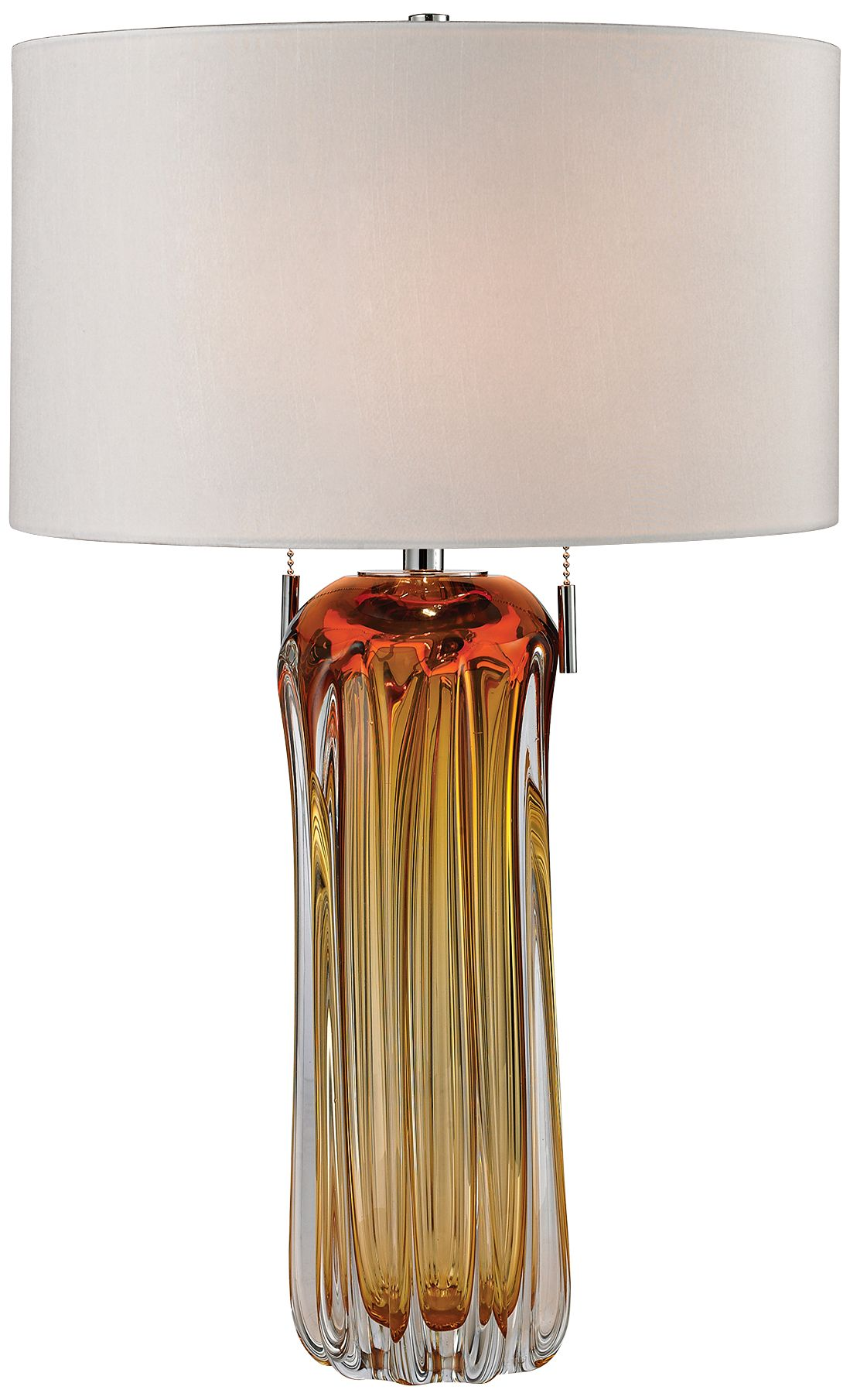 Dimond Ferrara Amber Free Blown Glass Table Lamp