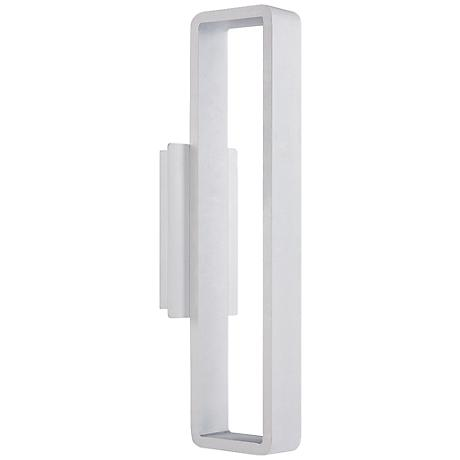 "WAC Janus 22"" High White LED Outdoor Wall Light"