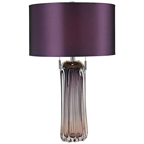 Dimond Ferrara Purple Free Blown Glass Table Lamp