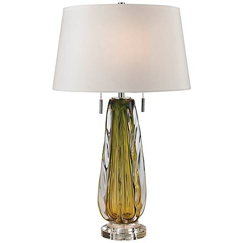 dimond modena green free blown glass table lamp 7r896 lamps plus. Black Bedroom Furniture Sets. Home Design Ideas