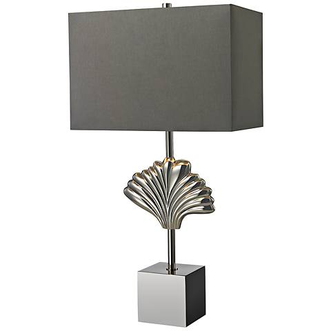 Dimond Oakwood Open Cube Chrome Ceramic Table Lamp