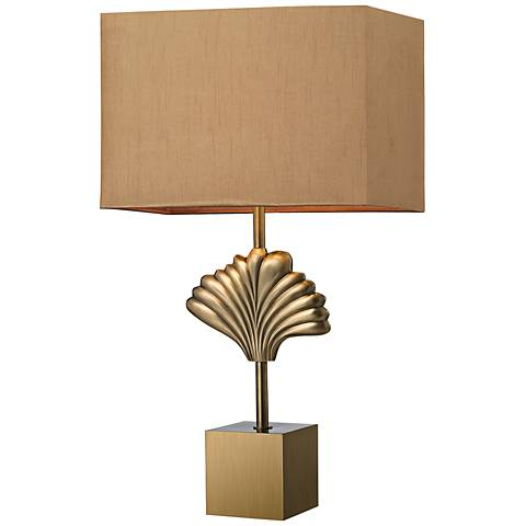 Dimond Vergato Solid Aged Brass Table Lamp