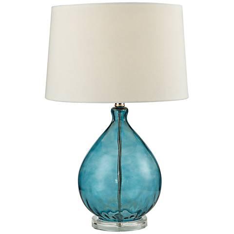 Dimond Wayfarer Teal Blue Blown Glass Table Lamp