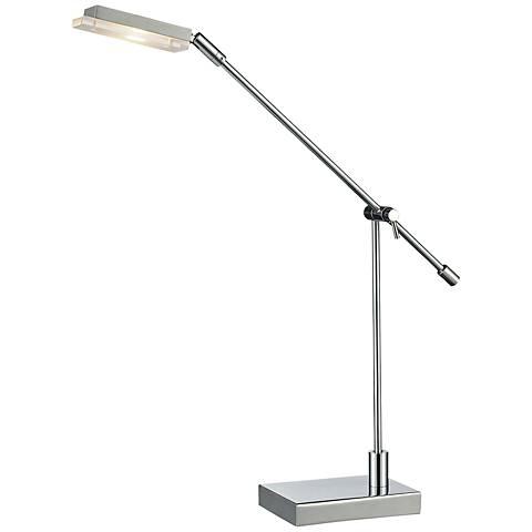 Dimond Bibliotheque Adjustable Chrome LED Desk Lamp