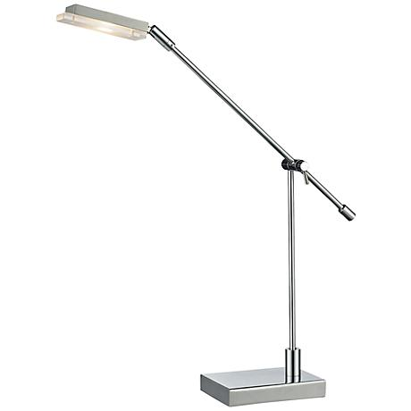 Dimond Bibliotheque Adjustable Chrome LED Desk Lamp