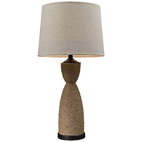 Dimond Dark Brown Wrapped Rope Table Lamp