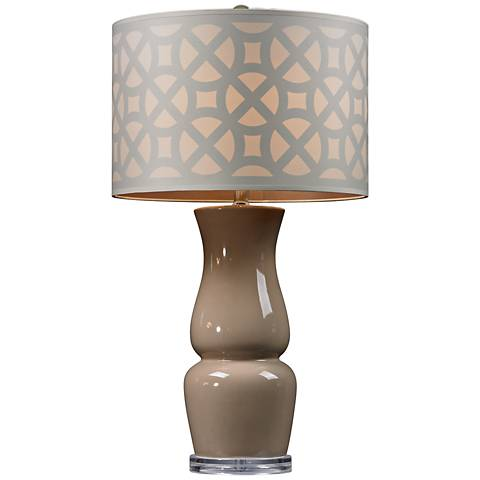 Dimond High Gloss Taupe Ceramic Table Lamp