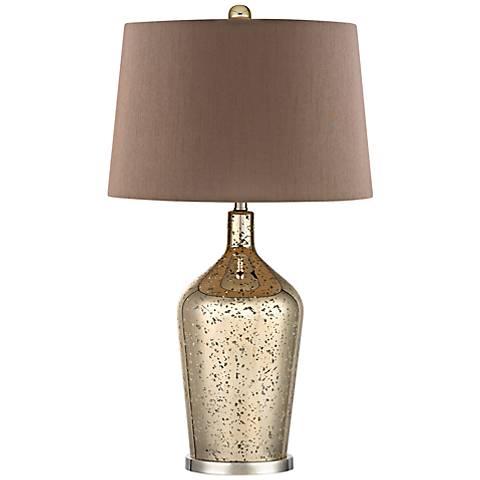 Dimond Antique Gold Mercury Glass Bottle Table Lamp