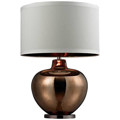 Dimond Oversized Coffee Bronze Glass Table Lamp